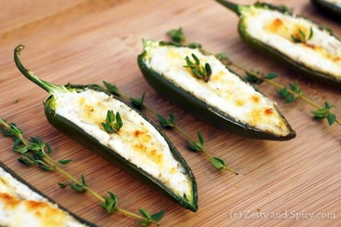 Baked Goat Cheese Stuffed Jalapeños