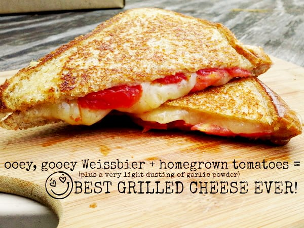 Weissbier grilled cheese