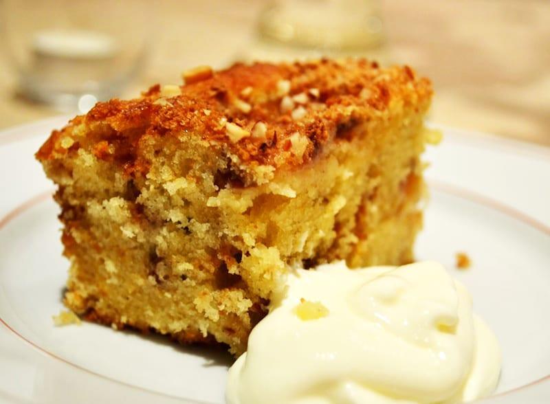 Fresh Peach and Amaretto Crumble Cake