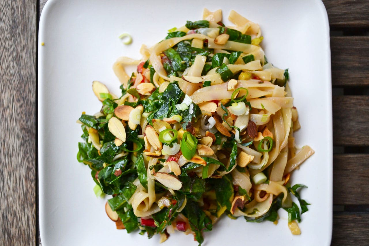 Flavor Bomb Greens and Noodles