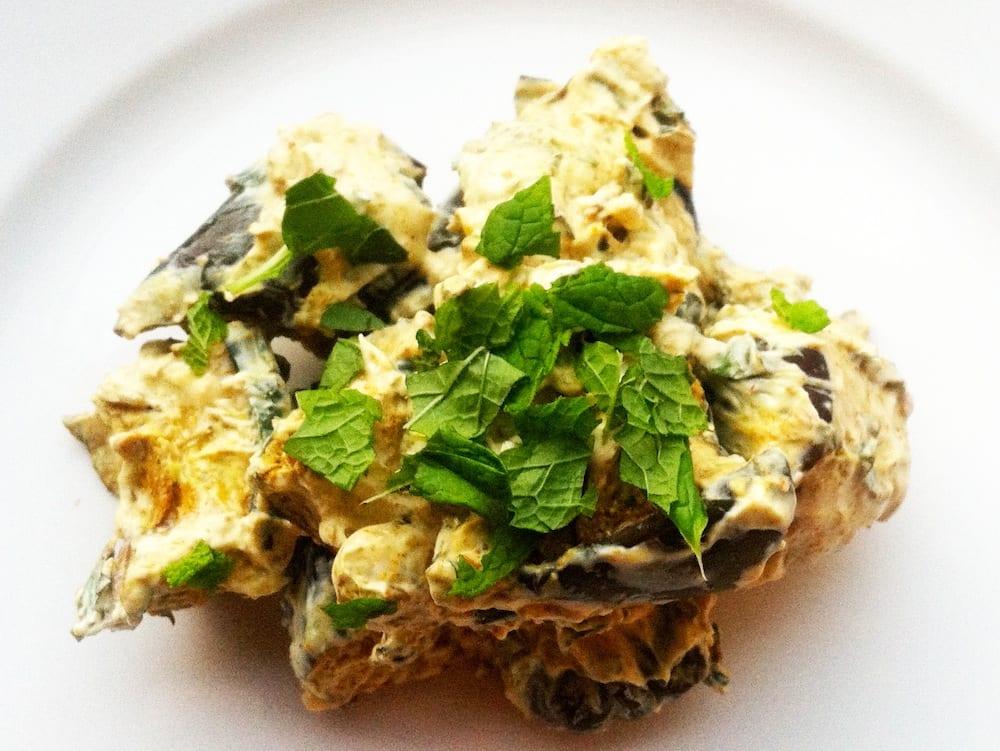 Curry Roasted Eggplant