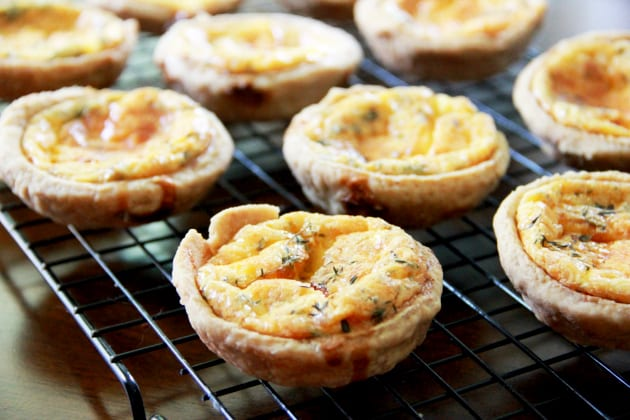 Individual Cheddar Cheese Pies