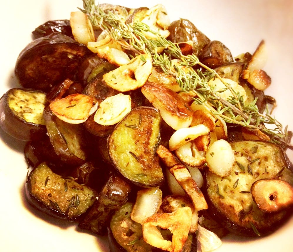Japanese Eggplant with Garlic and Thyme
