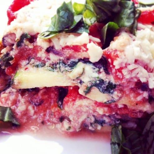Pasta-less Vegetarian Lasagna