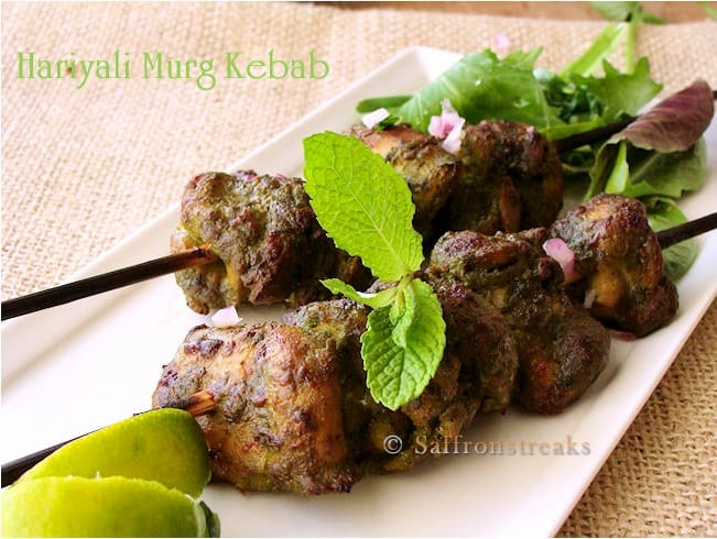 Minty Chicken Kebabs