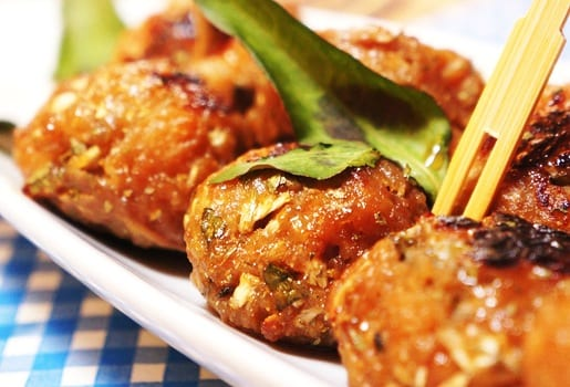 Veal and Quinoa Meatballs with Spicy Honey Sauce