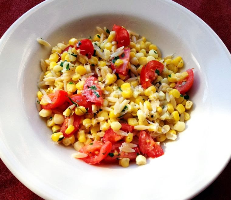 Orzo with Tomatoes and Corn