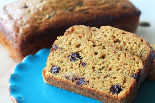 Pumpkin Zucchini Bread with Chocolate Chips