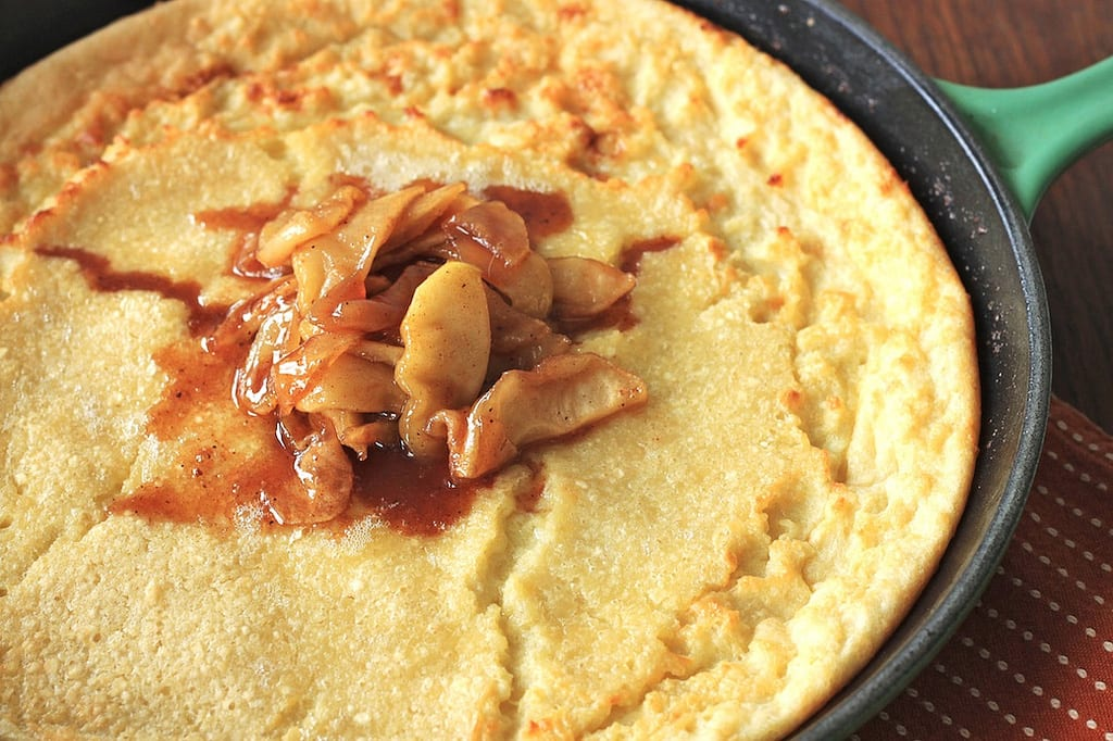 Finnish Pancake with Caramelized Apples