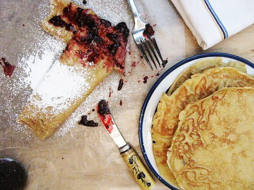Swedish Pancakes with Blackberry Vanilla Jam