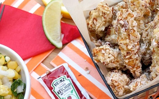 Almond-Crusted Baked Chicken Strips