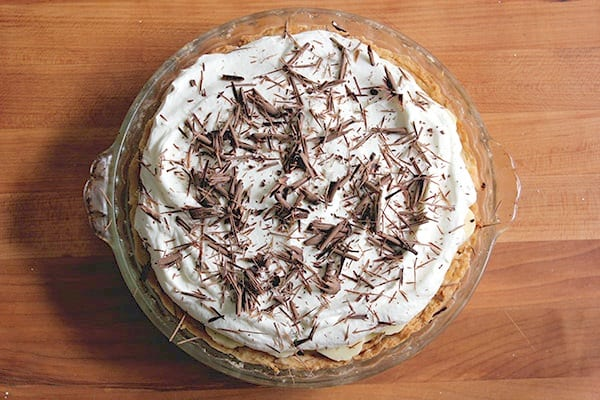Banana Cream Pie with Salted Caramel and Ganache