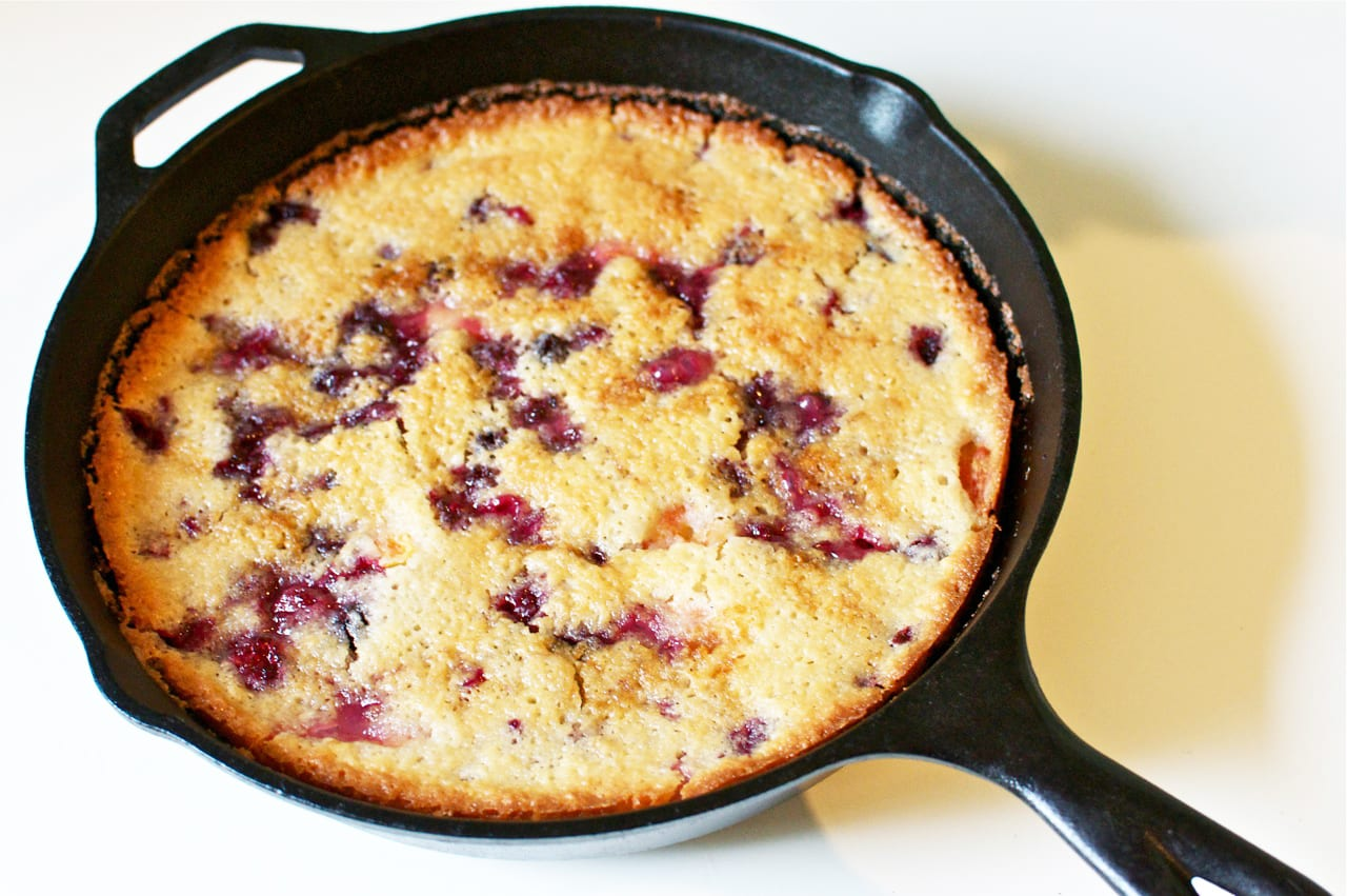 Skillet Fruit Cobbler