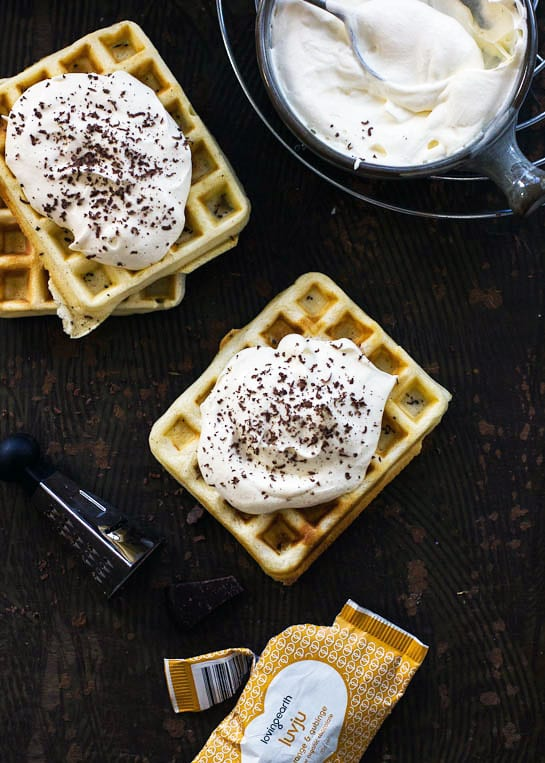 French Waffles with Cointreau Whipped Cream