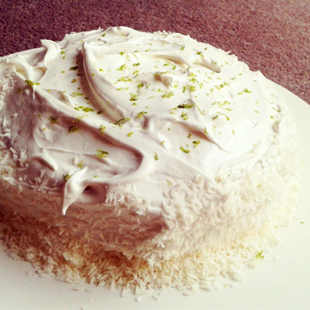 Coconut Lime Celebration Cake