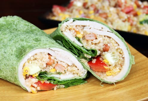 Soy-Ginger Chicken Quinoa Wraps