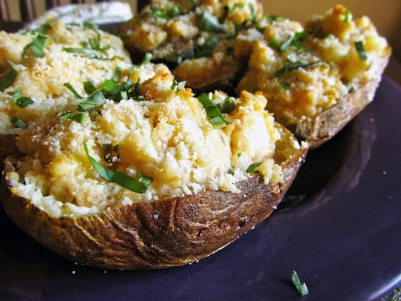 Twice-Baked Potatoes with Artichoke