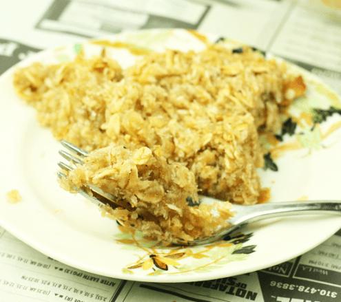 Healthy Coconut Oatmeal Pie