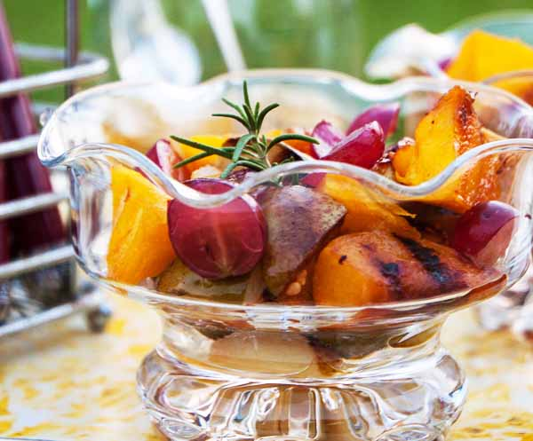 Grilled Fruit with Rosemary Honey