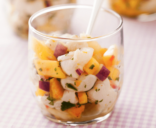Scallop Ceviche with Peach Salsa