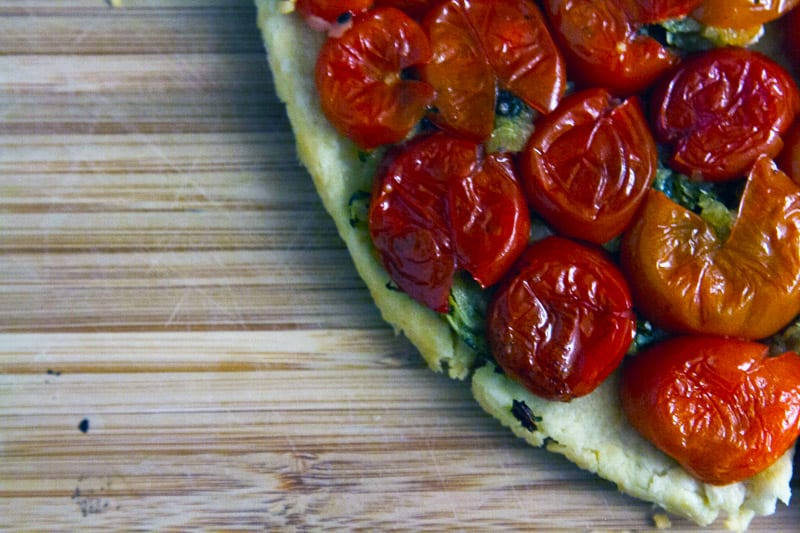 Zucchini and Roasted Tomato Tarte Tatin