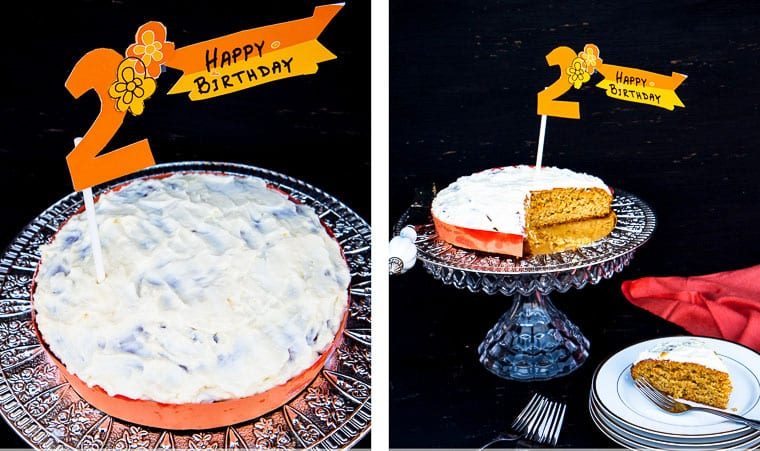 Zucchini and Carrot Birthday Cake