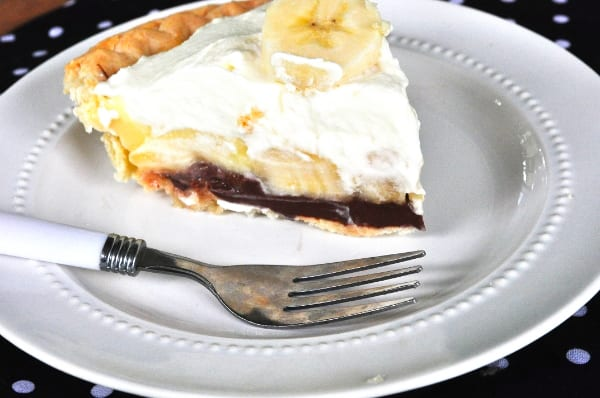 Banana Cream and Nutella Pie with Coconut Whipped Cream