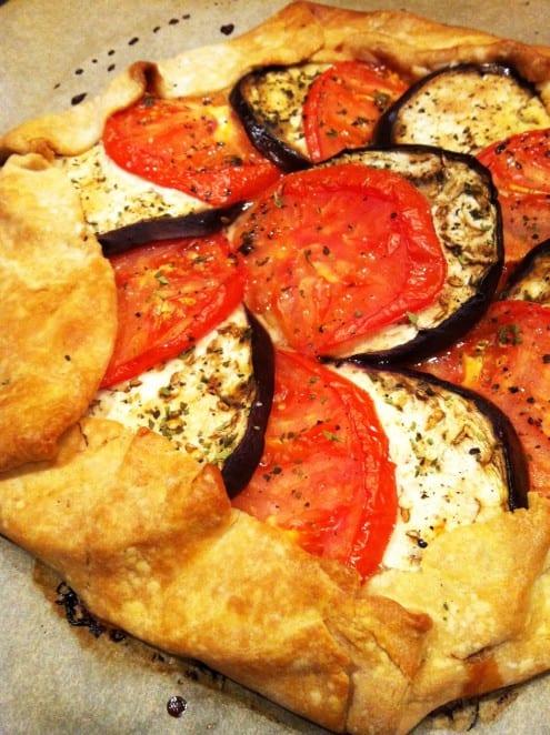 Heirloom Tomato and Eggplant Galette