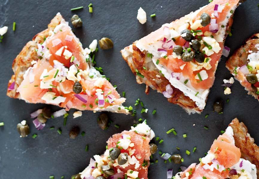 Finnish Smoked Salmon Potato Tartineq