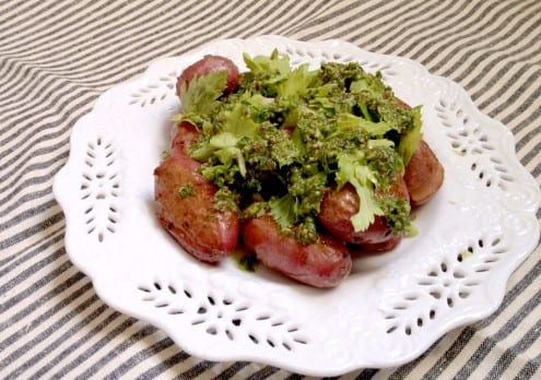 Smoked Salt Potatoes with Celery, Mustard and Dill