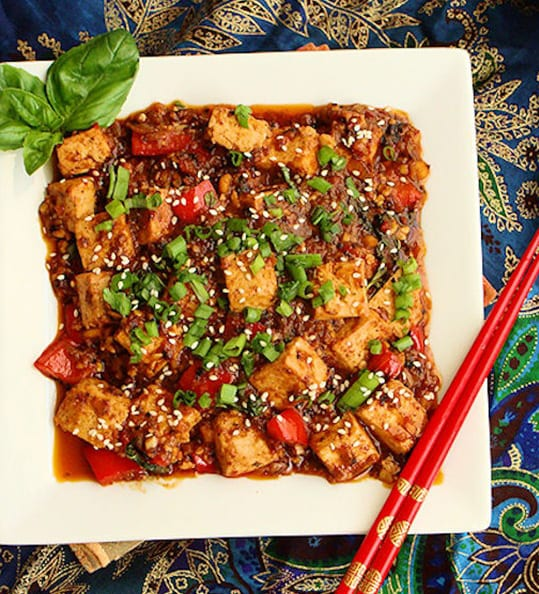 Thai Style Stir Fried Tofu