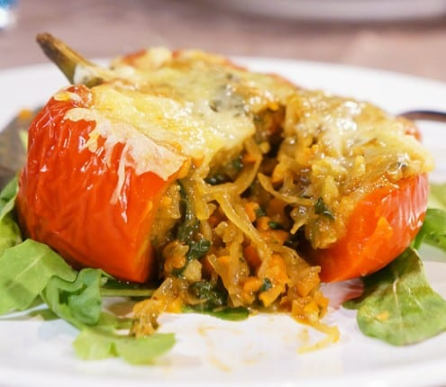 Vegetarian Stuffed Peppers – Honest Cooking