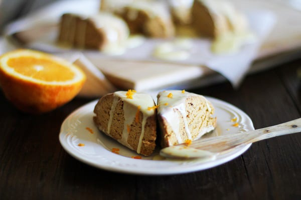 Sweet Potato Scones with Orange Glaze