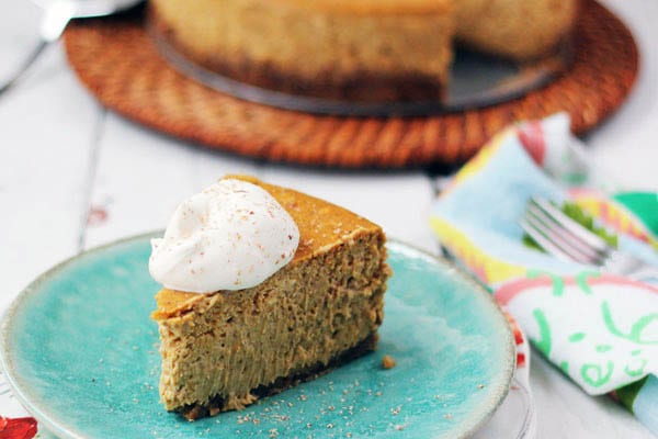 Bourbon Pumpkin Spice Cheesecake