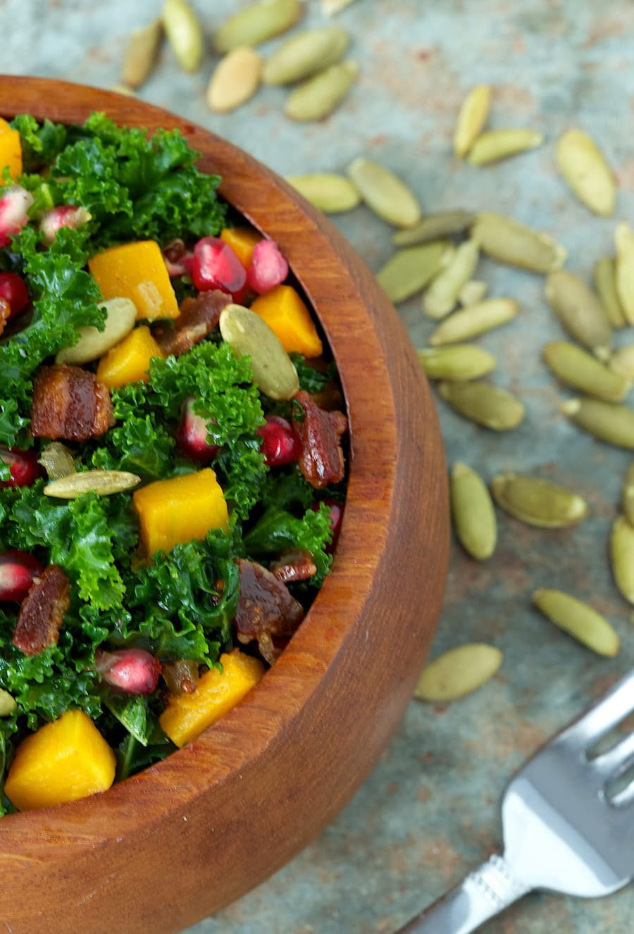 """Massaged"" Kale and Roasted Butternut Squash Salad"