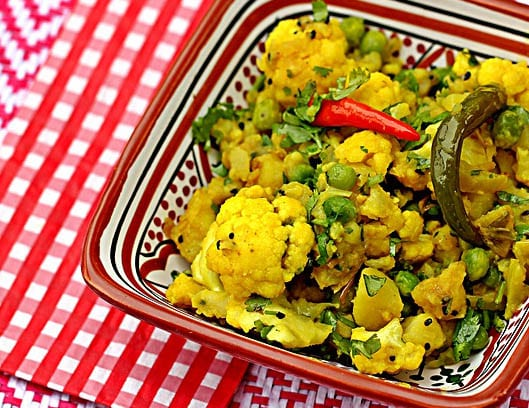 Curried Potatoes and Cauliflower