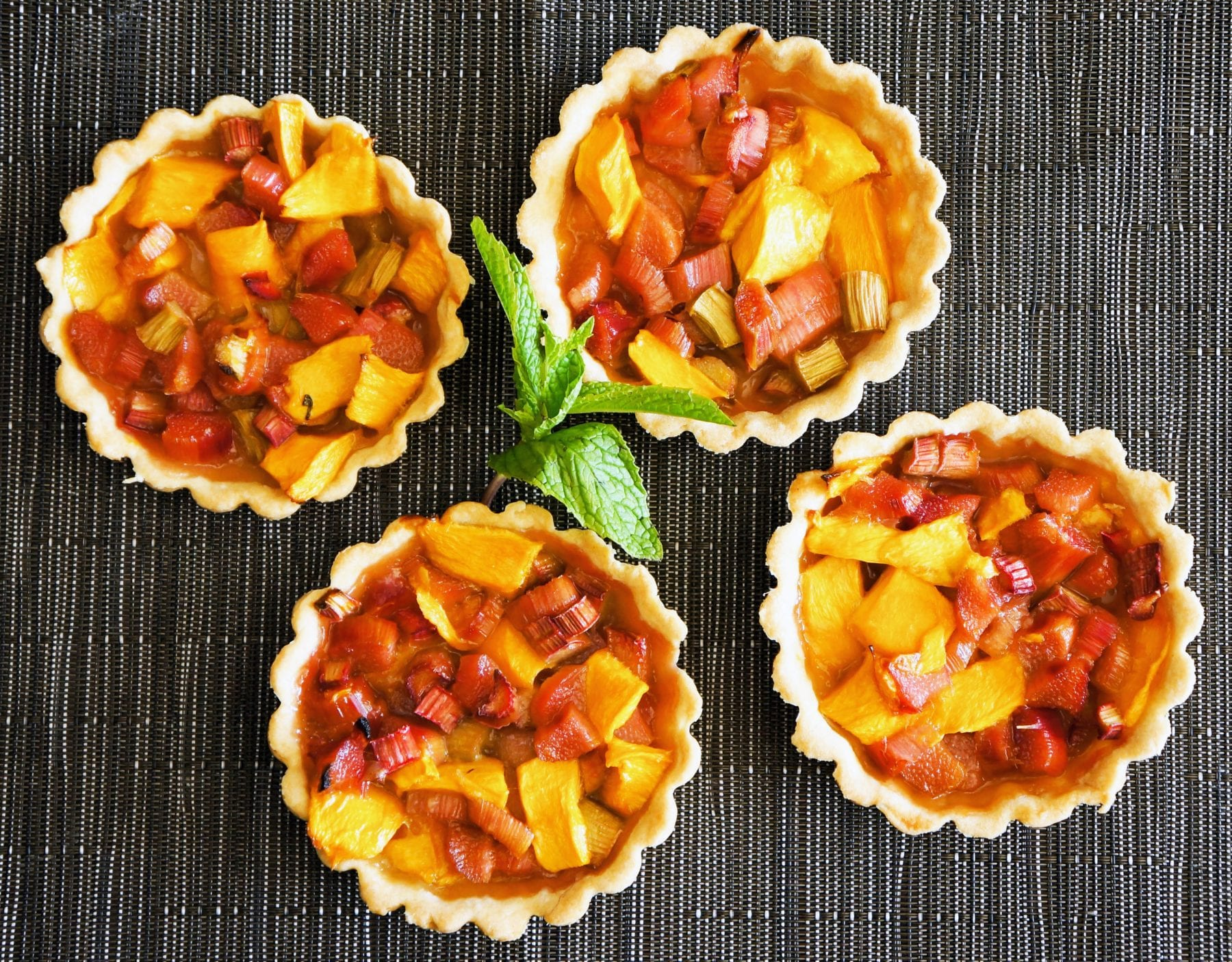 Mini Mango and Rhubarb Tarts
