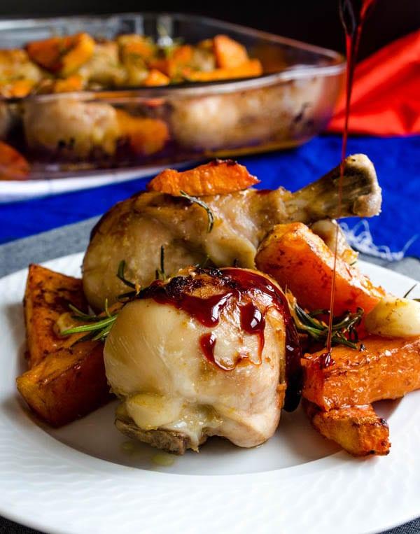 Roasted Chicken and Pumpkin