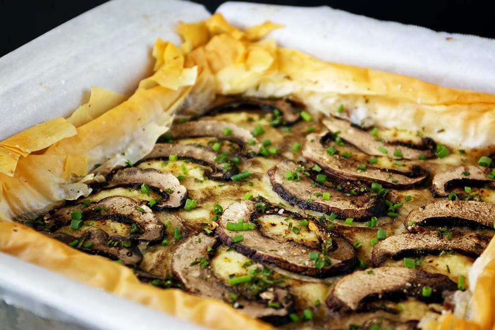 Truffled Potato and Mushroom Tart