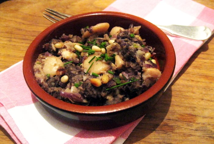 Black Pudding and Butter Beans Hash