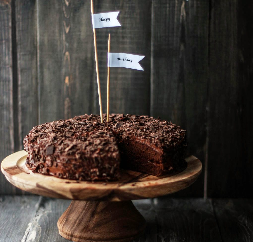 Chocolate Cake with Chocolate-Coffee Buttercream