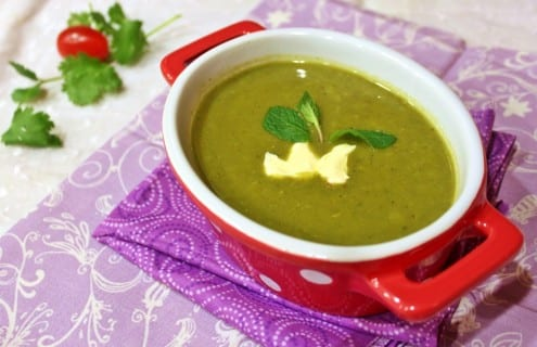 Spinach and Split Pea Soup