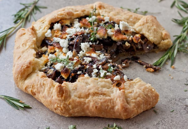 Mushroom and Goat Cheese Galette