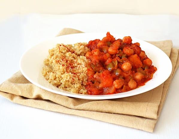 Tomato, Chickpea and Potato Stew with Toasted Quinoa Jill Nammar