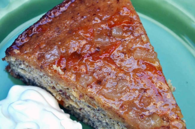 Ginger Cake with Whiskey Marmalade Glaze