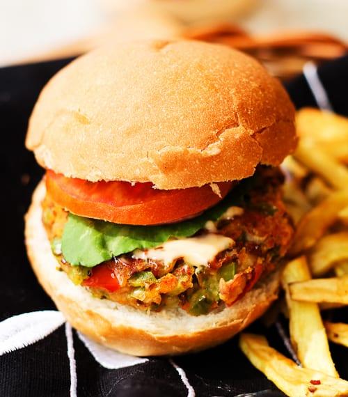 Vegan Red Bean and Oats Burger
