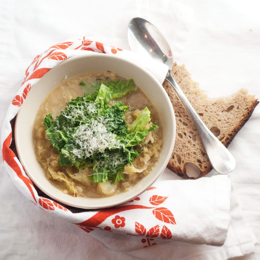 Cabbage and Parmesan Rind Soup