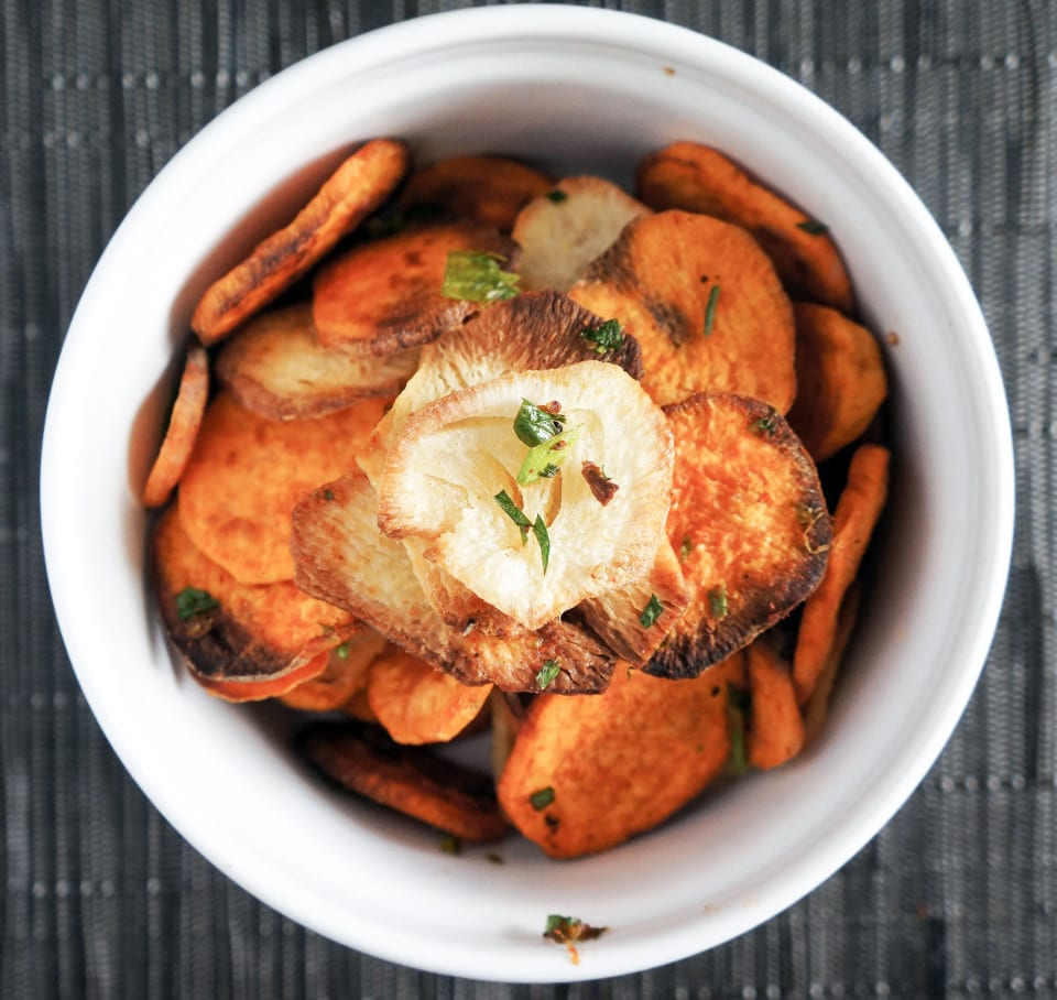 Ancho Lime Sweet Potato and Yucca Chips