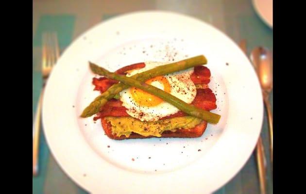 Open Faced Avocado and Egg Sandwich Recipe