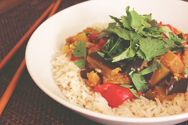Vietnamese Braised Eggplant and Mixed Vegetables